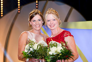 The two Wine Princesses Laura Lahm (left) and Charlotte Freiberger (right)